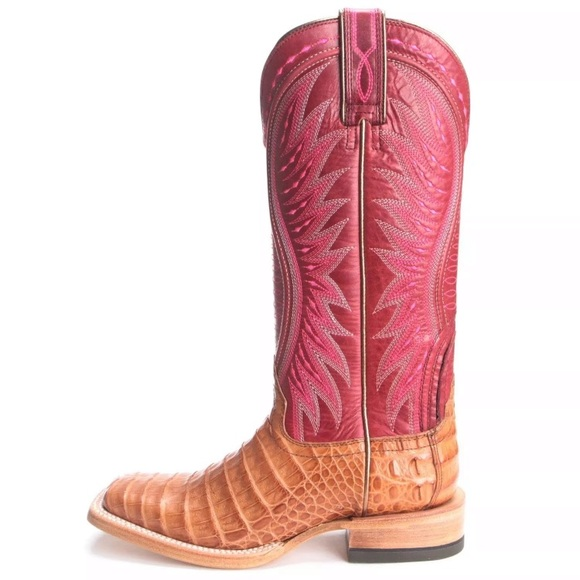 3877d05bd2b Ariat Vaquera Caiman Belly Western Boots NWT